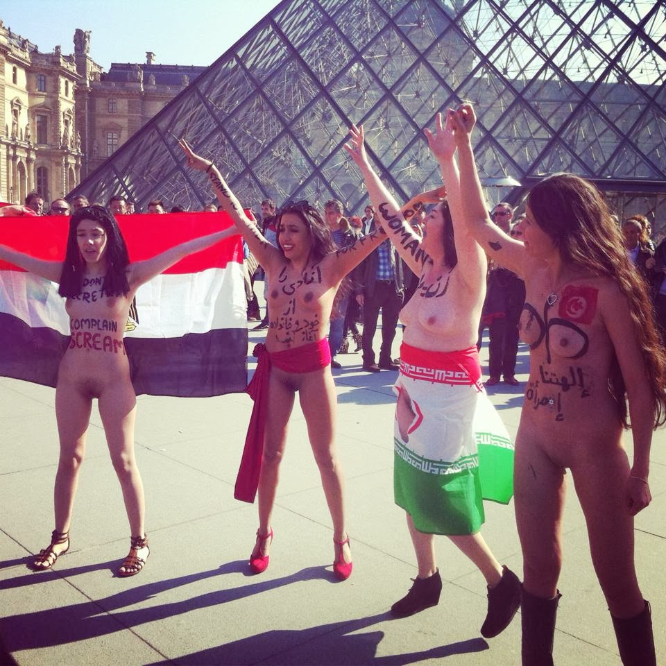 "nude dancing in louvre museum square: proud ""arab"" women atheists"